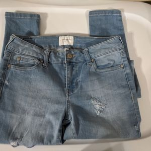 Celebrity Pink Mid Rise Skinny Distressed - 1/25